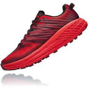Hoka One One Speedgoat 4 Zapatillas Hombre, cordovan/high risk red